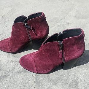 New rag & bone Margot burgundy suede boots sz 37